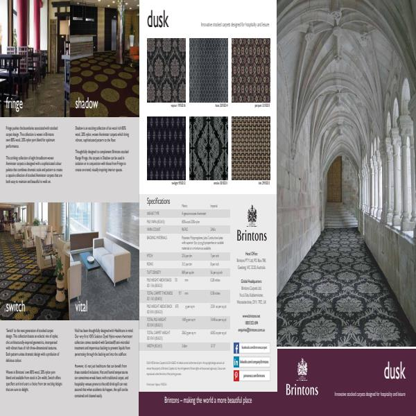 Dusk carpet collection from Brinstons Carpets