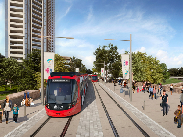 Light Rail in central district