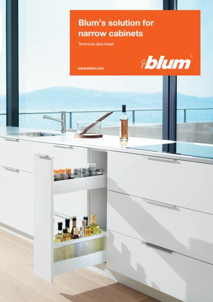 Blum Narrow Cabinet Solution technical data sheet
