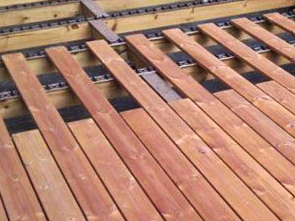 Clip JuAn fastening system is ideal for Lunawood thermowood decking