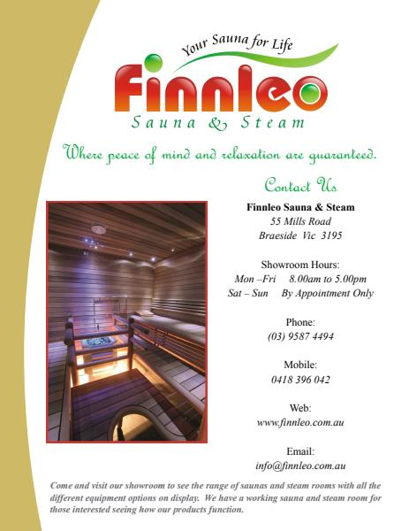 Finnleo Saunas, Steam Rooms and Steam Showers