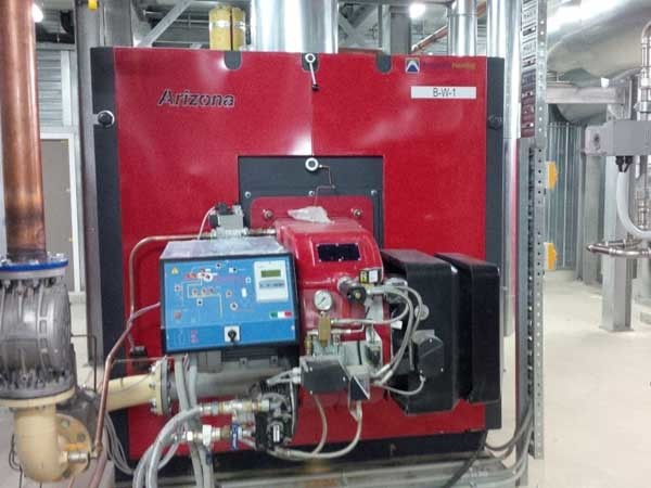 Automatic Heating's Arizona dual fuel boiler