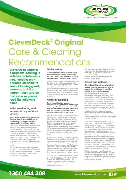 CleverDeck Original Care & Cleaning