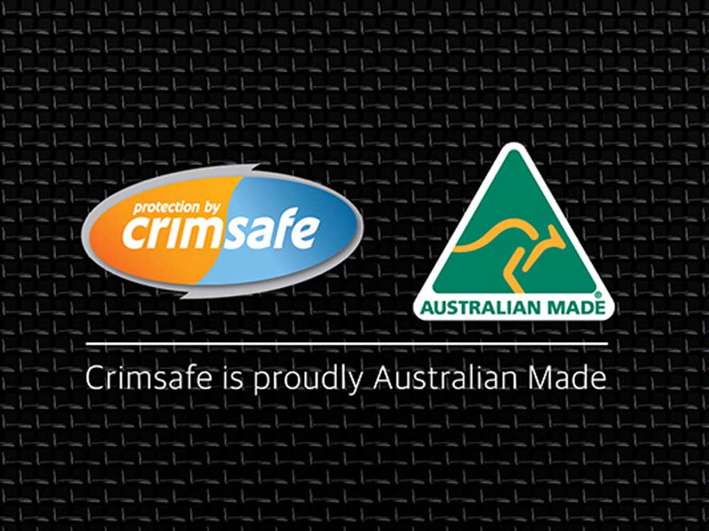Australian Made Crimsafe home security products