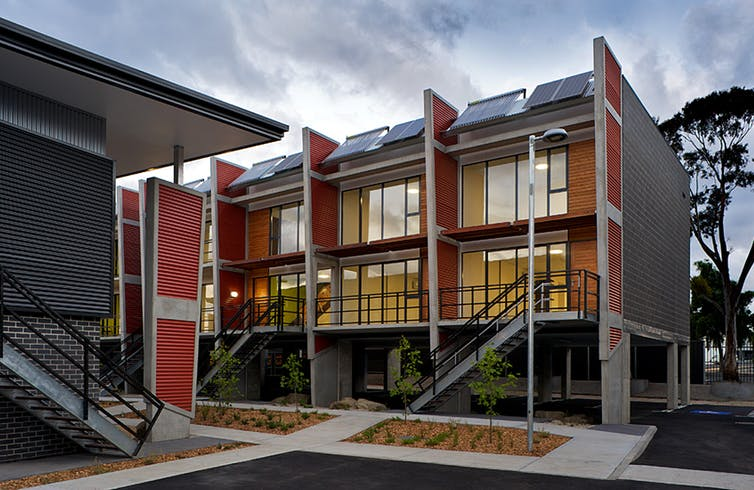 Energy efficient social housing in Tasmania. Xsquared, Hobart, Author provided