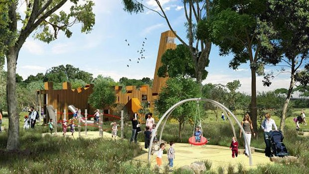 It Will Feature 15000 Trees Four Kilometres Of Bicycle And Walking Paths Several Playgrounds An Events Space A Gum Tree Forest Caf