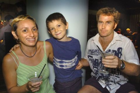 Lena yali left and greg mcnamara right with son paul pictured in