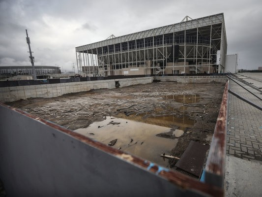 Just two years after the Rio olympics, venues are abandoned and in a state of disrepair. Image: Mario Tama/Getty Images