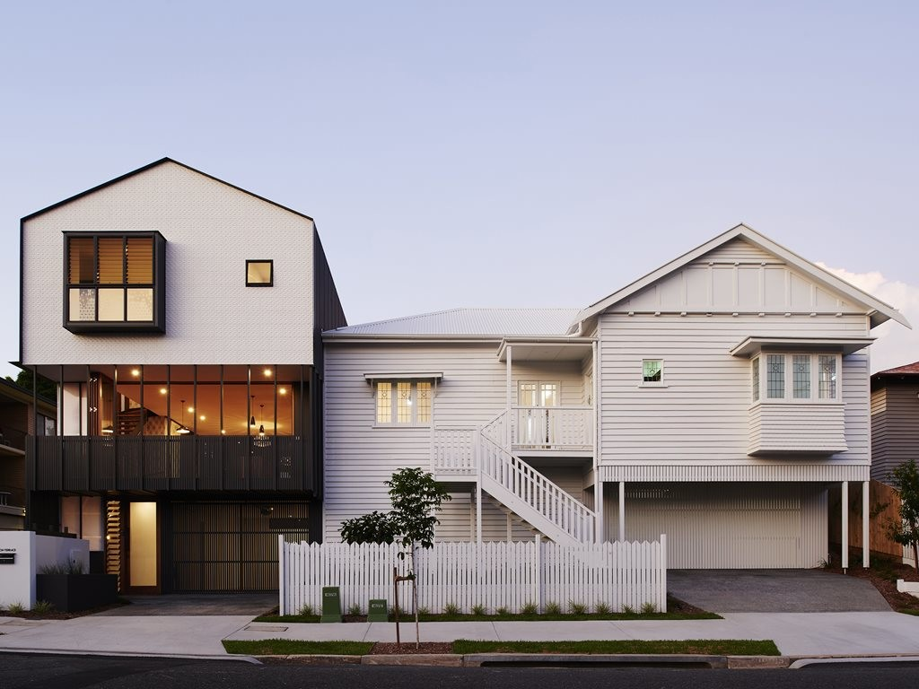 A 1944 Queenslander reinterpreted as four townhouses