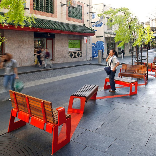 Little Hay Street was reinforced through widened granite paved footpaths  and new street furniture and lighting  while street trees were planted to  provide a. Sydney s Laneway Revitalisation projects win the Australian Award