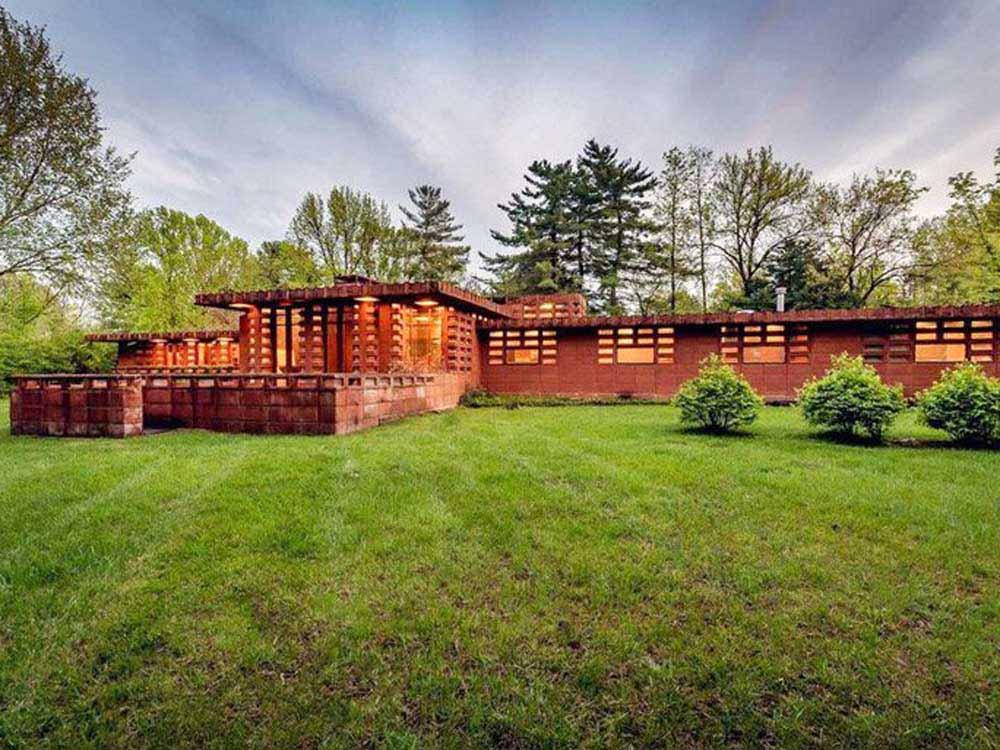 Frank Lloyd Wright Designed Concrete Block House On Sale