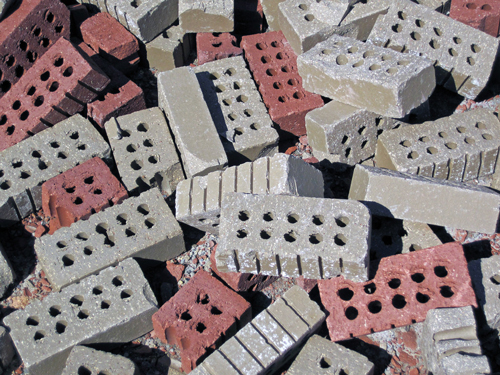 Recycled bricks