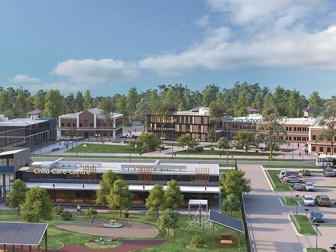 An artist's impression of South East Wilton. Image: NSW Department of Planning and Environment