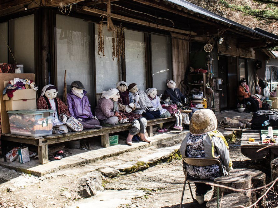 In Nagoro, in Tokushima Pefecture, one resident has made around 300 dolls to replace villagers who are no longer around. Photography by Roberto Maxwell