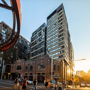 Glass And Metal Surround Gehry S Brick Building In Sydney