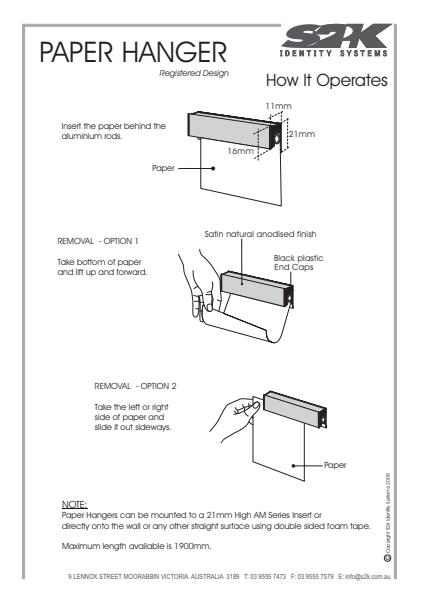 Paper Hanger- How it operates