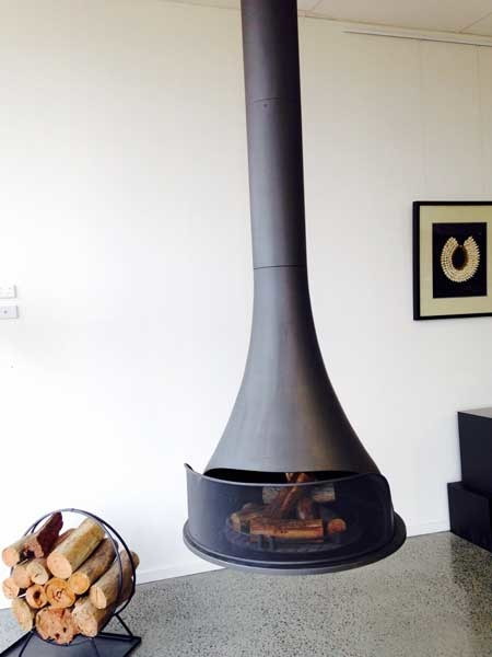 A Sculpt fireplace