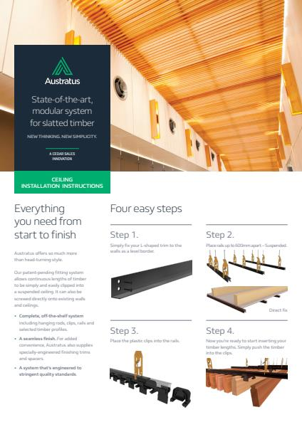 Austratus ceiling installation instructions