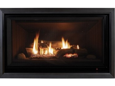 Gas Log Flame Fires  - Rinnai Symmetry Gas Log Flame Fire