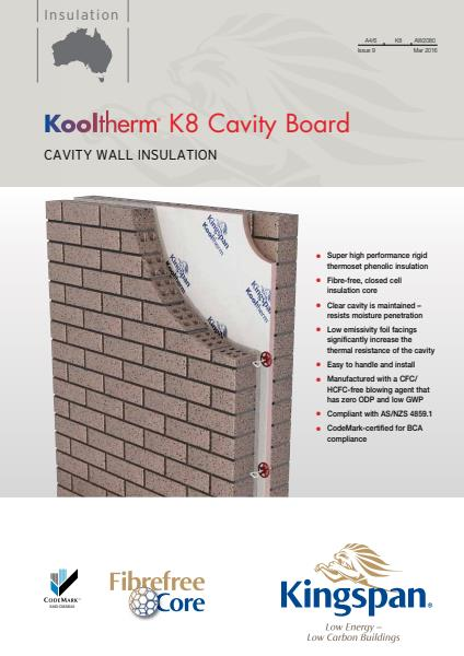 Kooltherm K8 Cavity Board brochure