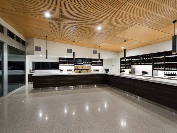 Plywood Feature Ceiling Meets Aesthetic And Acoustic Goals