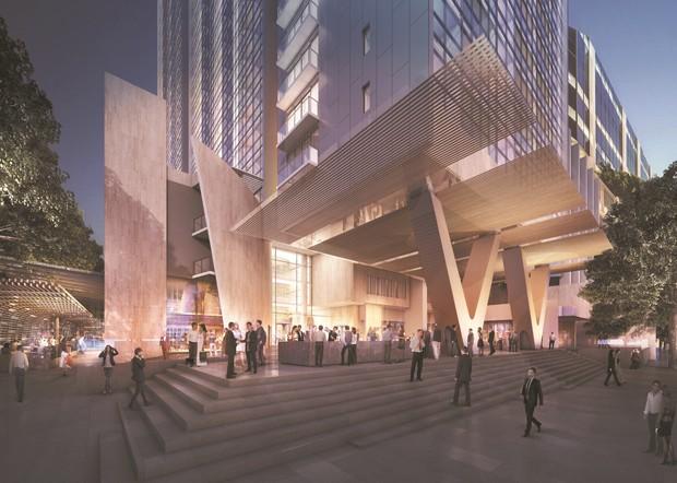Koichi takada aj c architects parramatta piazza defined for V column architecture