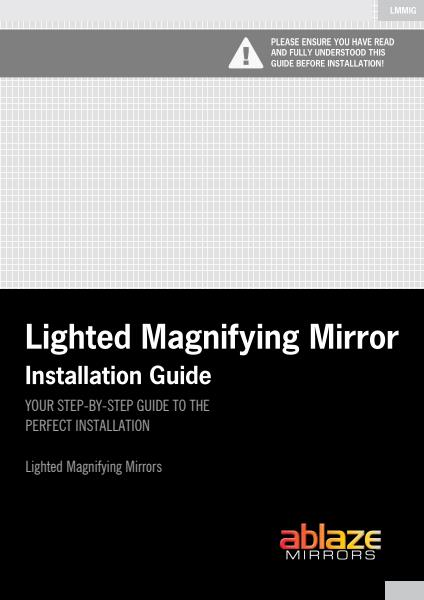 Ablaze Mirrors installation guide