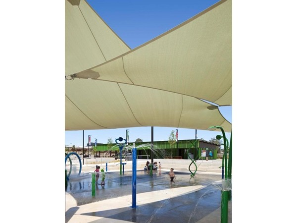 The Blacktown climate informed design, with a variety of shading and water facilities littering the site.