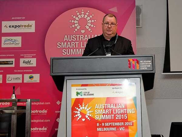 Ian Dryden, City of Melbourne presenting at the Smart Lighting Summit
