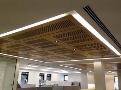 Ultraflex's slotted ceiling panels