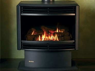 Gas Log Flame Fires - Royale Freestanding ETR Gas Log Flame Fire