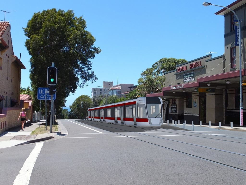 Waverley Council is currently investigating the feasibility of a light rail corridor from Bondi Junction to Bondi Beach in the next 10 to 15 years. Image: Alt Media