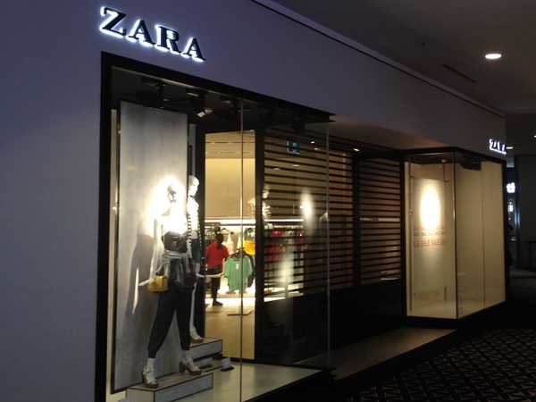 The new ZARA store in Chatswood NSW