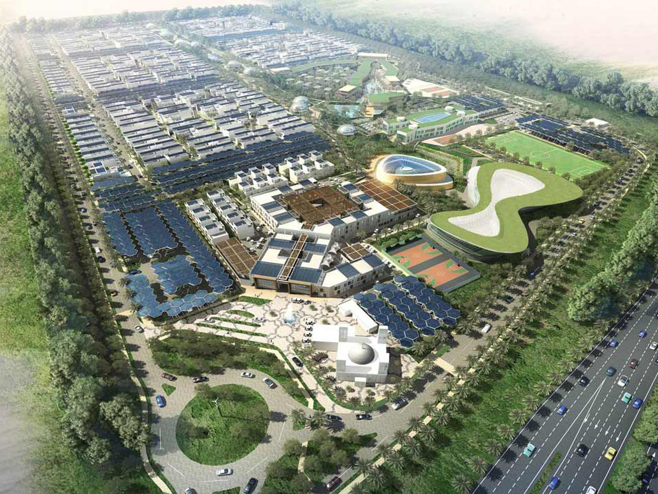 An artist's impression of the Dubai Sustainable City project.