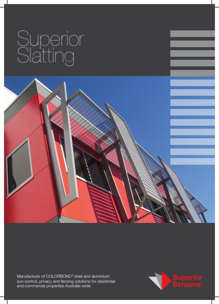 Superior Slatting Brochure from Superior Screens