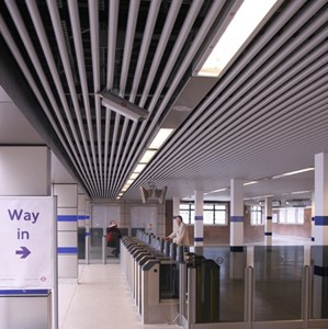 Metal Ceilings Can Be Modified Into Many Diffe Profiles Above Is A Baffle System From Armstrong And Line Chilled Ceiling Sas International