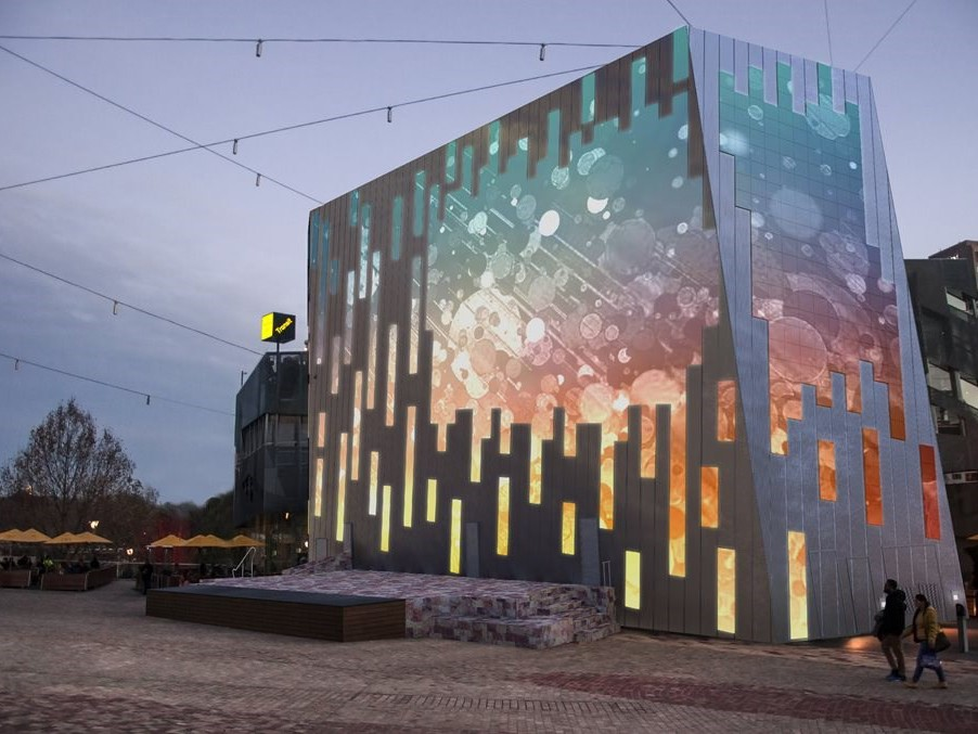 Melbourne's popular public space Federation Square is set to undergo a 5.4 million technological refurbishment designed to improve its visitor experience with an integrated multi-screen initiative. Image: Supplied