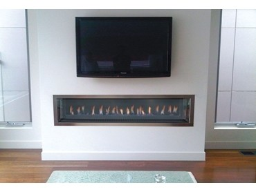 Landscape gas fireplaces for energy efficient heating while providing ambience to any room