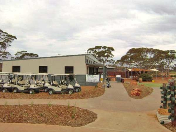 The clubhouse at the Kalgoorlie Golf Course