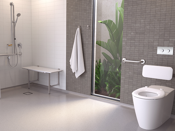 Caroma Care Collection accessible aged care bathroom products