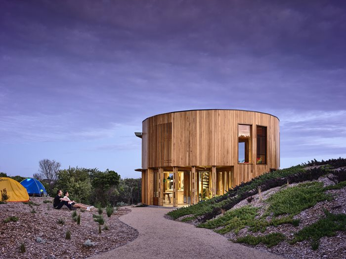 timber beach house