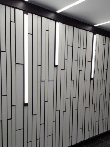 MAXI Film White custom cut wall panels by Gray Puksand Architects