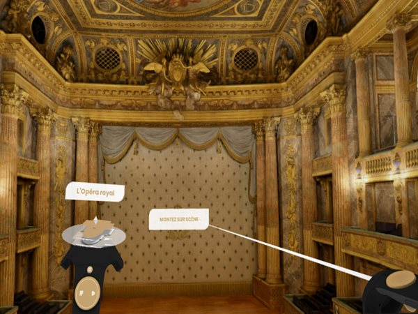 Technological rendition of Palace room