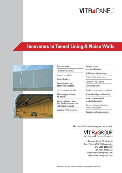 VitraPanel tunnel lining brochure