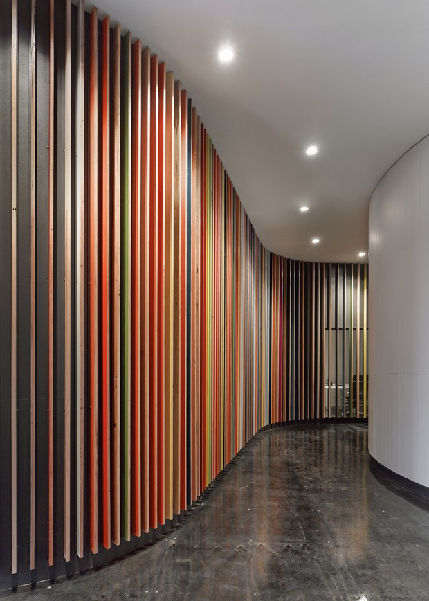 Office space by make architecture is transformed by colour for Space material design