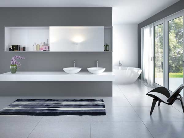 SlideLine M in the bathroom: functionality and design right across the board. Photo: Hettich
