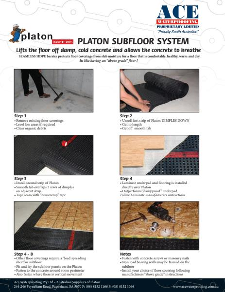 Platon Installation Brochure - Flooring