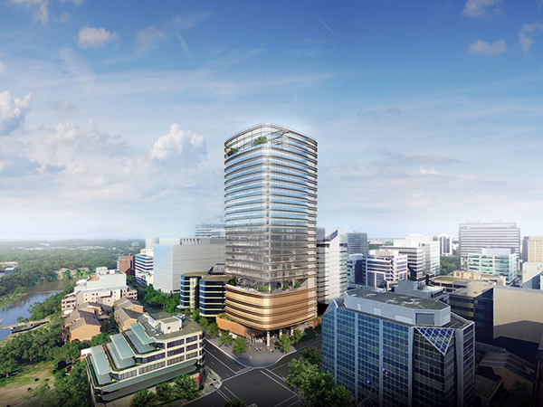 Fender Katsalidis-designed, sustainably-focussed Parramatta tower tops out