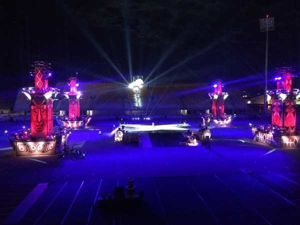 The spectacular opening and closing ceremonies for the 15th Pacific Games ran smoothly on a Clear-Com backbone