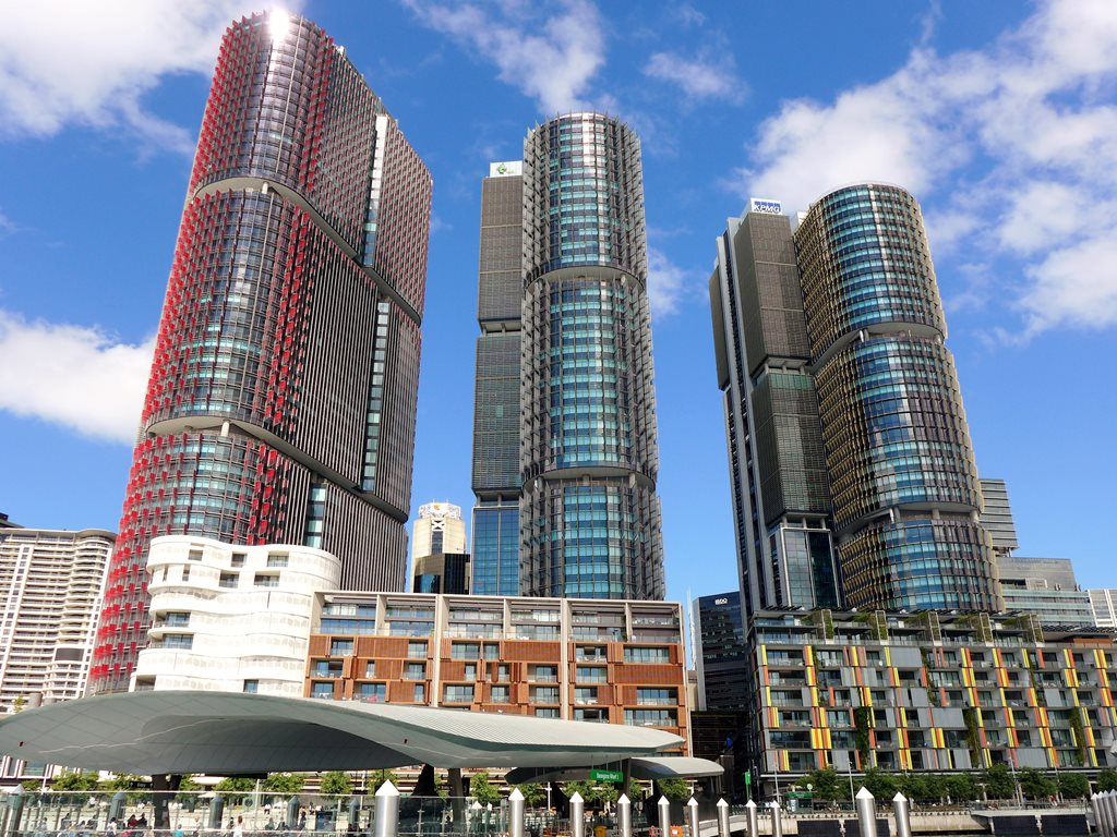 The International Towers at Barangaroo, Sydney. Image: Wikimedia Commons